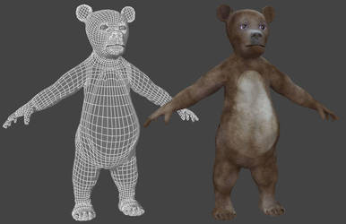 Bear figure for Poser by adh3d