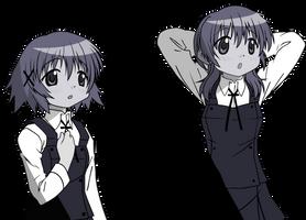 Miyako Yuno Monochrome by NakkiNya