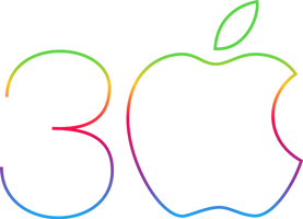 Apple 30-year anniversary logo by NakkiNya