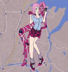 JJBA - GPS Girl by EducatedRodent