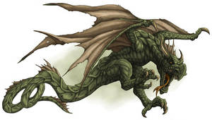 DS: Monsters - Wyvern by willowWISP