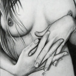 charcoal study with hands by dizzykid