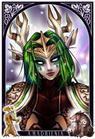 Night Elf Druid  Minak-Shpinak by WarcraftArtGallery