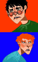 Harry and Ron Angst by casetuck