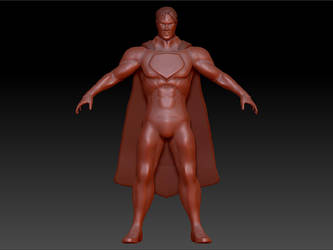 Superman sculpt - WIP by D3vilKill3r23