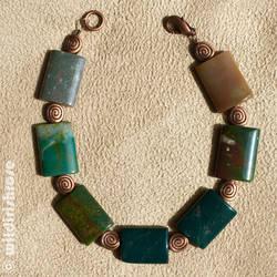 Bloodstone Spiral bracelet by wildirishrose7