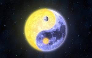 Sun Yang, Yin Moon II by KAdDigArt