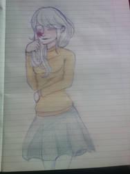 Thinking of him by Velerina-chan