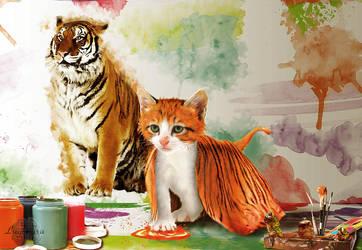 March: Kitten Tiger-cub by Lughnara