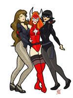 Best Heroine Gal Pals by CrimsonVlkyrie