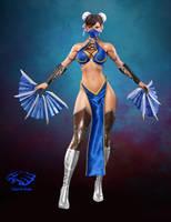 Chun Li MK style by Falconartstudio