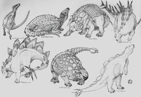 Dinosaur Phylogeny: Thyreophora by SaurArch