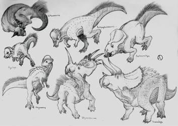 Dinosaur Phylogeny: Marginocephalia by SaurArch