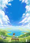 Big Blue Sky by Kevin-Glint