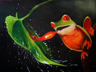Pastel frog by aRiBoObOo