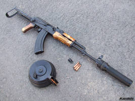 Kalashnikov AKMS 18 by Garr1971