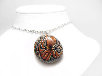 Octopus Pendant Necklace by sobeyondthis