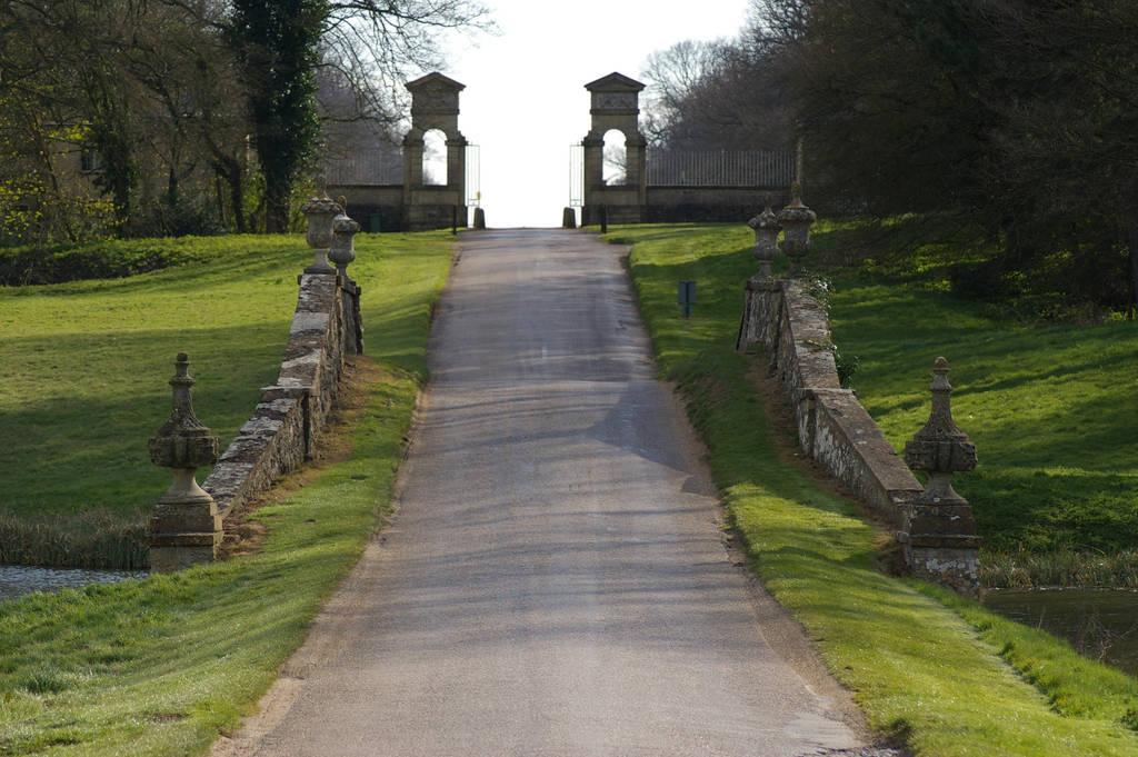 Stowe Bridge and Main Gate by Eiande