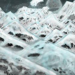 Snowy Mount Progress by EchoStryk