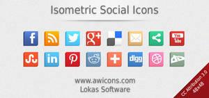 Isometric Social Icons by Insofta