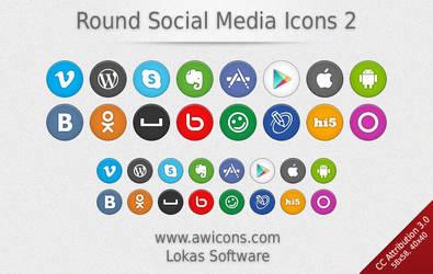 Round Social Media Icons 2 by Insofta