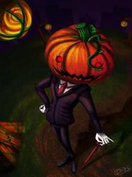 Mr. Pumpkin by multielementmage