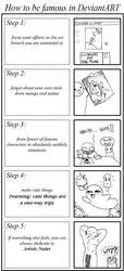 How to be Famous in DeviantArt by multielementmage
