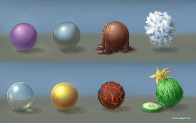 Spheres materials by stasiyaalexandrova