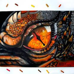 Eye of Smaug Drawing by NataliaCampoy