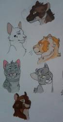 warriors designs nr 2 by Ash-Doggie