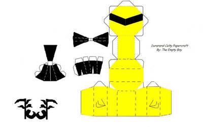 Durarara Celty Papercraft by TheEmptyBoy