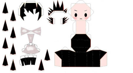 Deathnote L Chibi Papercraft by TheEmptyBoy