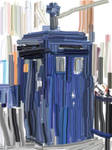 Painted Tardis by TheEmptyBoy