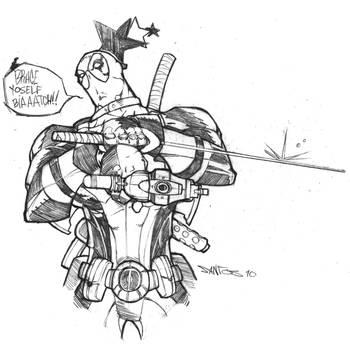 deadpool skribbles by CRISTIAN-SANTOS