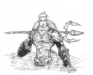 aquaman skribbles by CRISTIAN-SANTOS