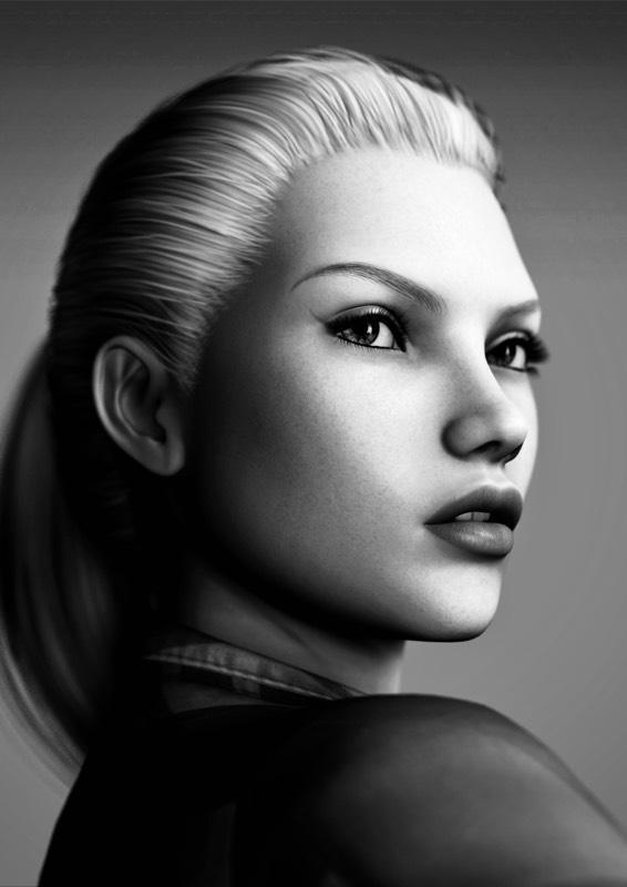 Penelope Noir Portrait by Torqual3D