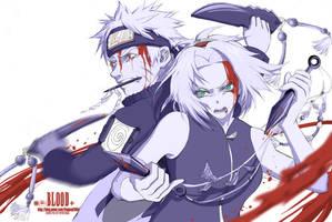 sakunaru - fight by Cynthi