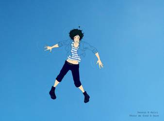 Nageons dans le ciel by kairi31