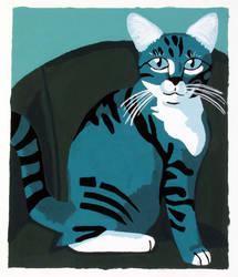Monochromatic Kitty by wifey