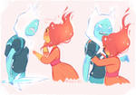 Flame!Finn x Flame Princess by Flasho-D