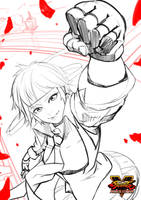 Sakura Street Fighter V Sketch by GDecy