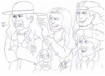 .:[DOODLE]MY FAVORITE WWE GUYS:. by Maniactheleader