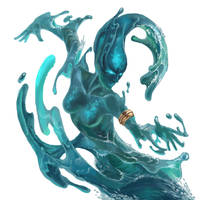 Water Elemental_DVG - Warfighter Fantasy by Huy137