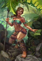Jungle girl Hunting by Huy137