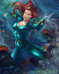 Mera VS The Trenchs by Huy137