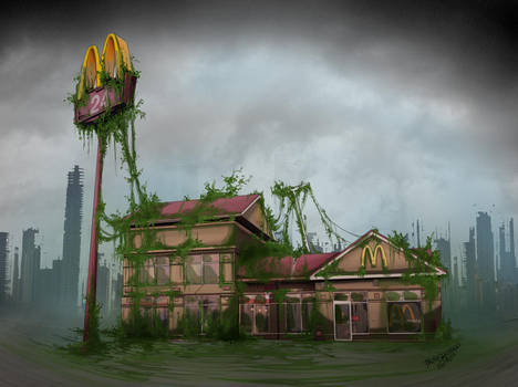 Post-Apocalyptic McDonalds by fab00m