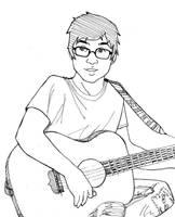 Brendon playing guitar by kshapiro