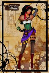 Steampunk Esmeralda by HelleeTitch