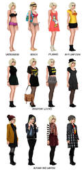 Lori's Outfit Chart by HelleeTitch