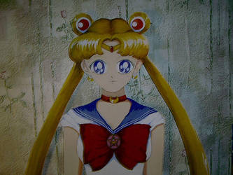 Sailor Moon face by Kumin
